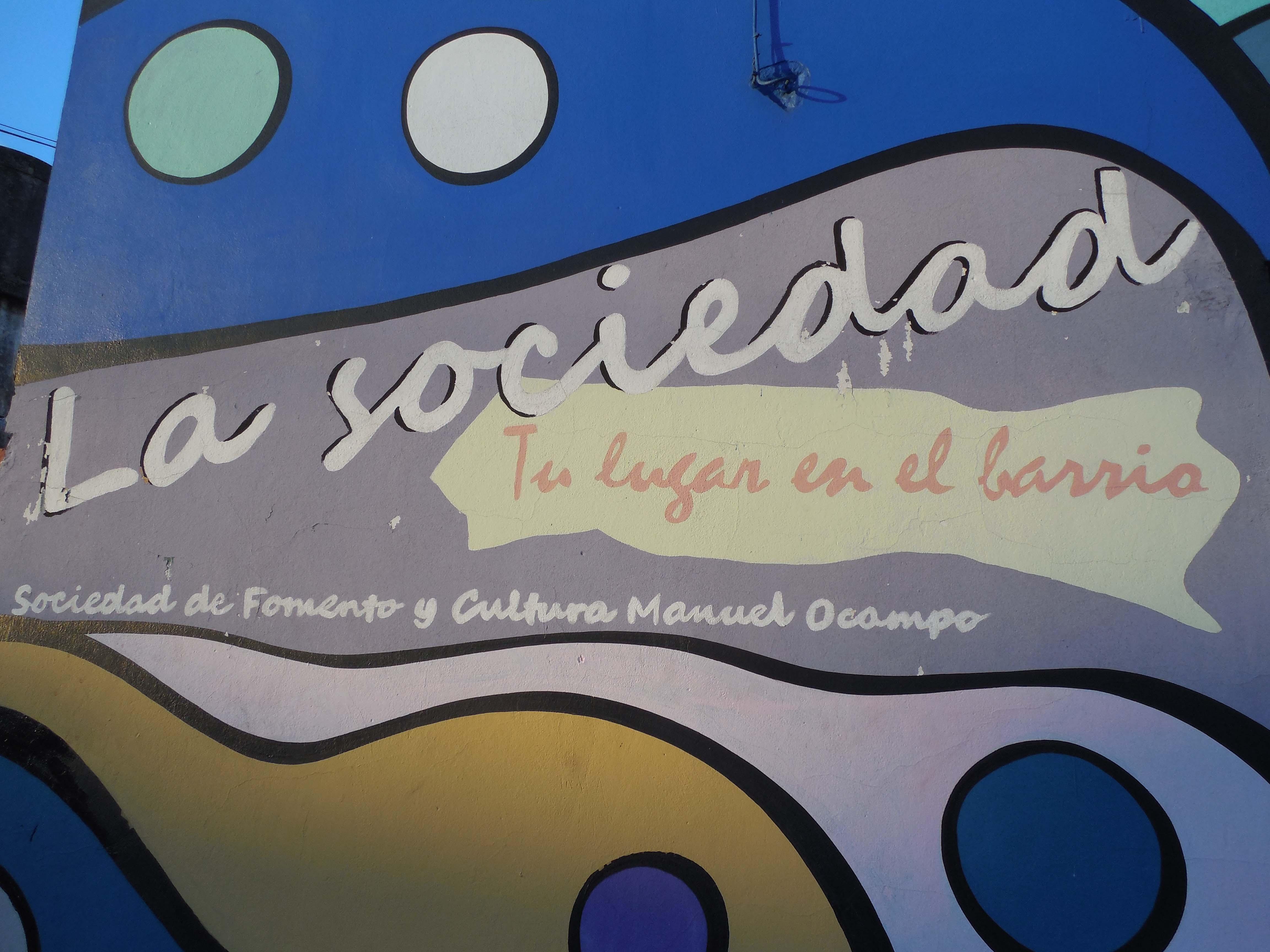 Mural calle - Centro Cultural La Sociedad / Sociedad de Fomento y Cultura Manuel Ocampo