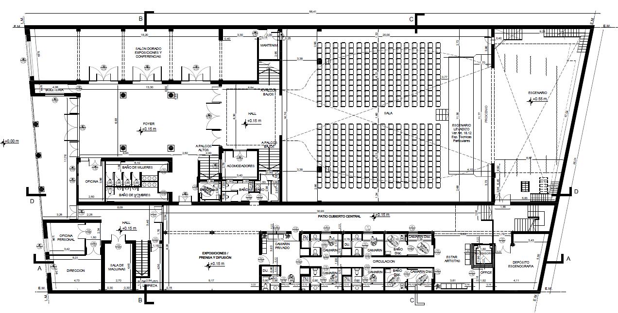 plano interior - Teatro Roma