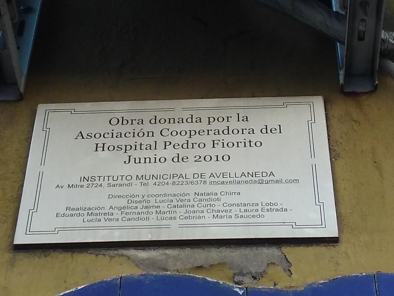 Mural cerámico - Mural cerámico en la Morgue del Hospital Fiorito