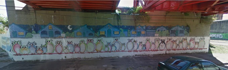 foto mural - Mural sobre aves en San Martín al 1400