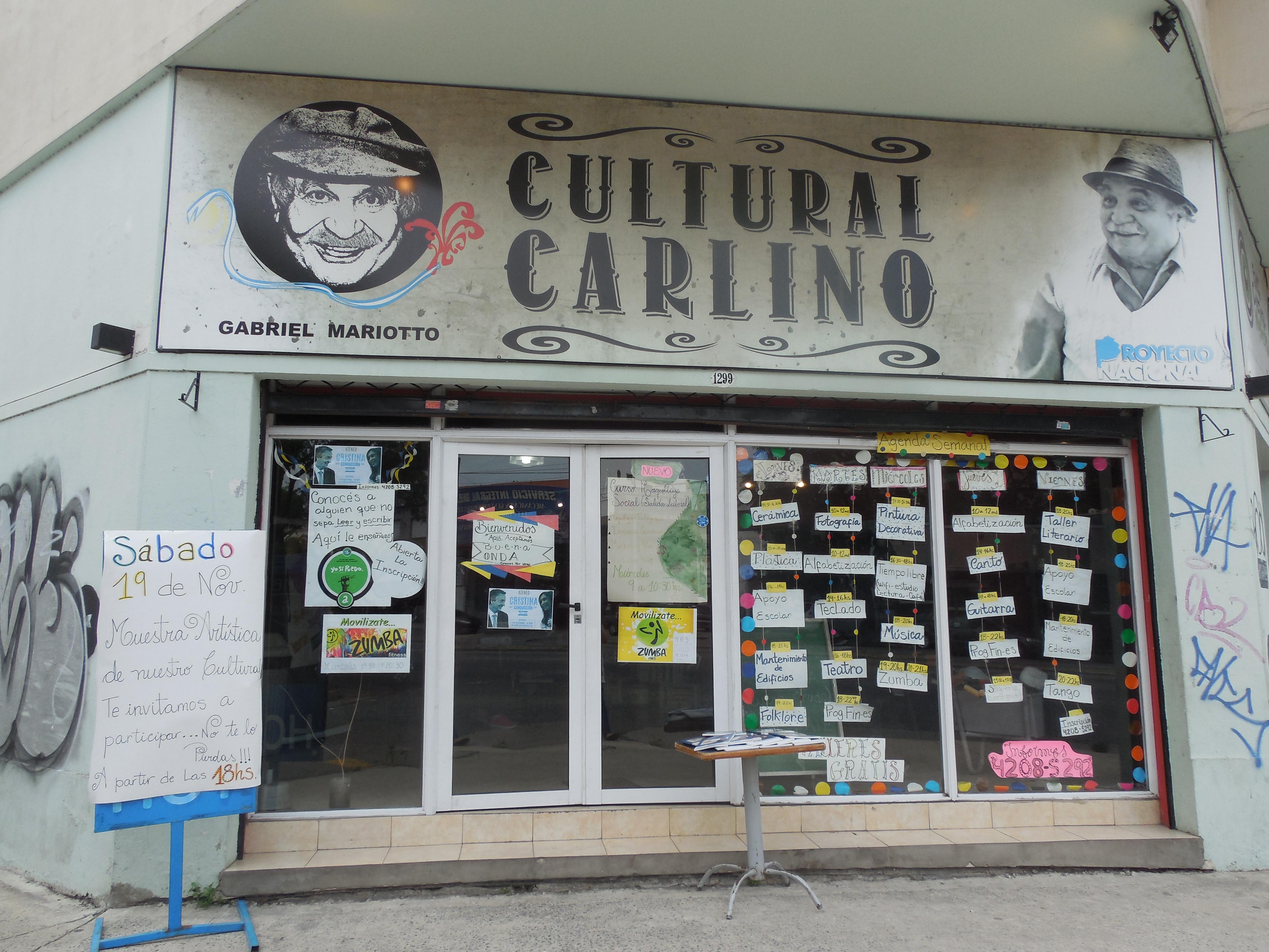 Punto cultural N° 1 en el Cultural Carlino - Punto Cultural 2016 N° 1 en el Cultural Carlino