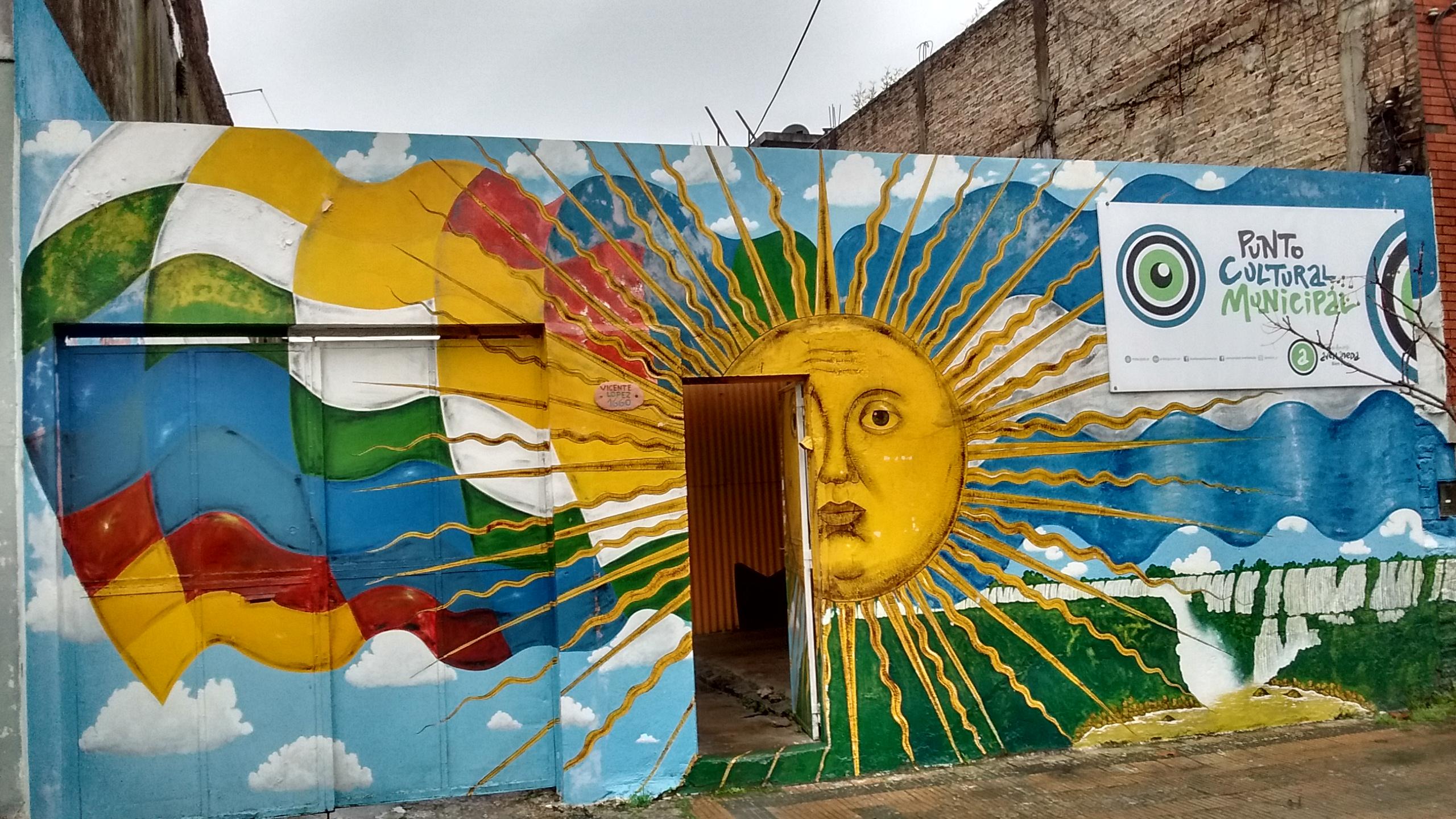 Mural en la entrada al Centro cultural Nueva Esperanza 1 - Mural  en el Centro Cultural Nueva Esperanza