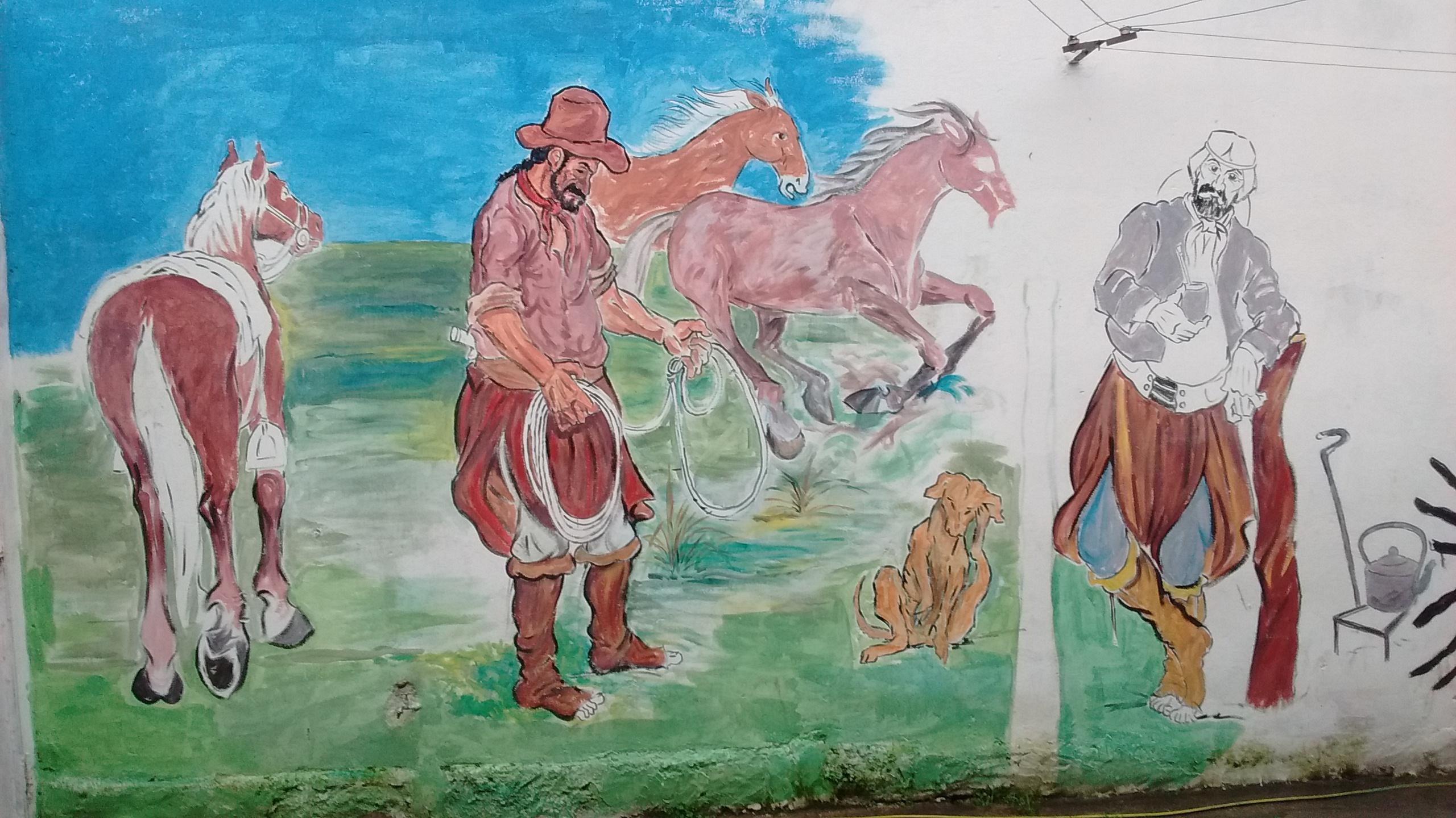 Mural 1 en Centro Cultural Nueva Esperanza - Mural dentro del Centro Cultural Nueva Esperanza