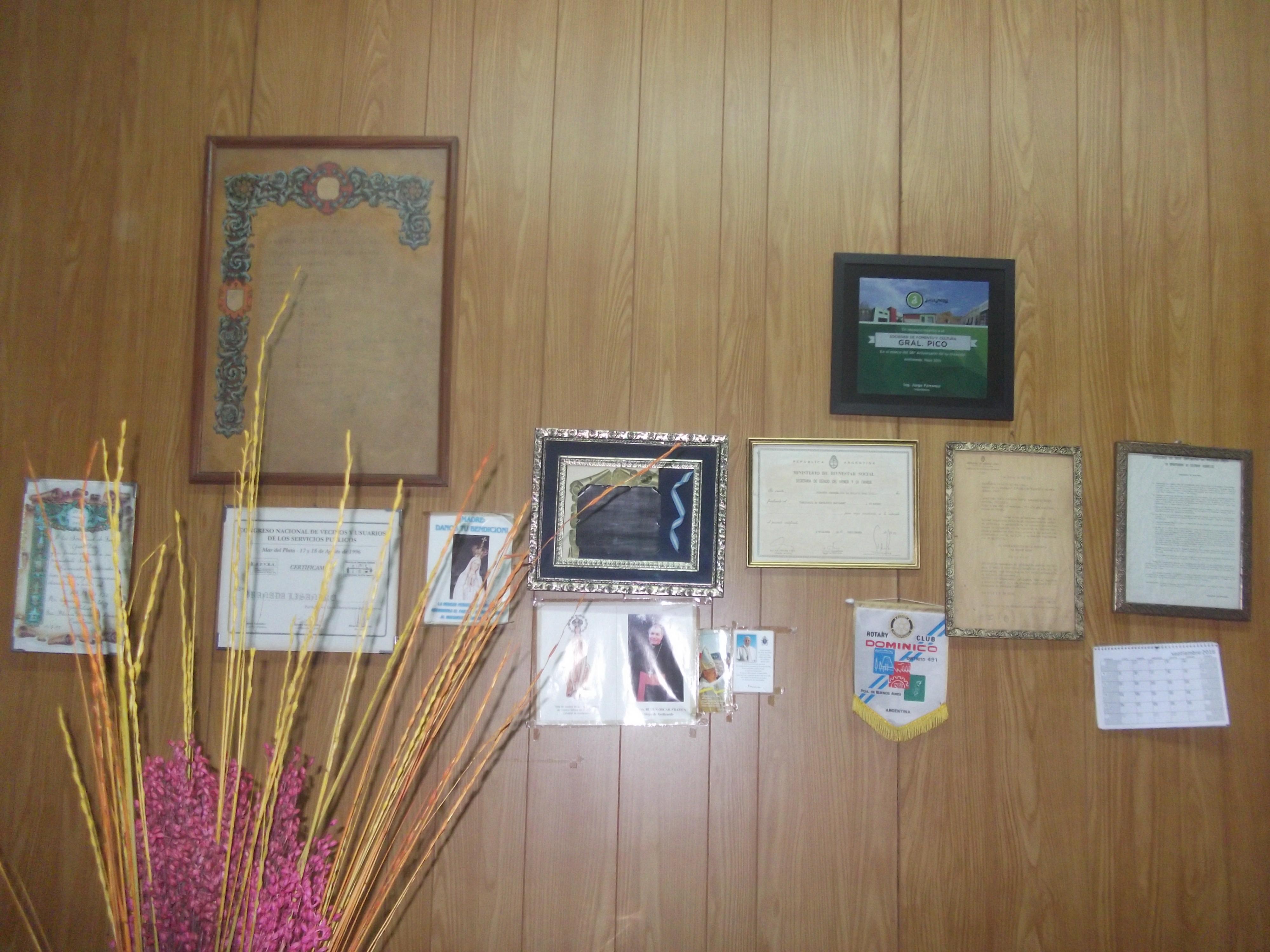Oficina de recepción  - Sociedad de Fomento Gral. Pico