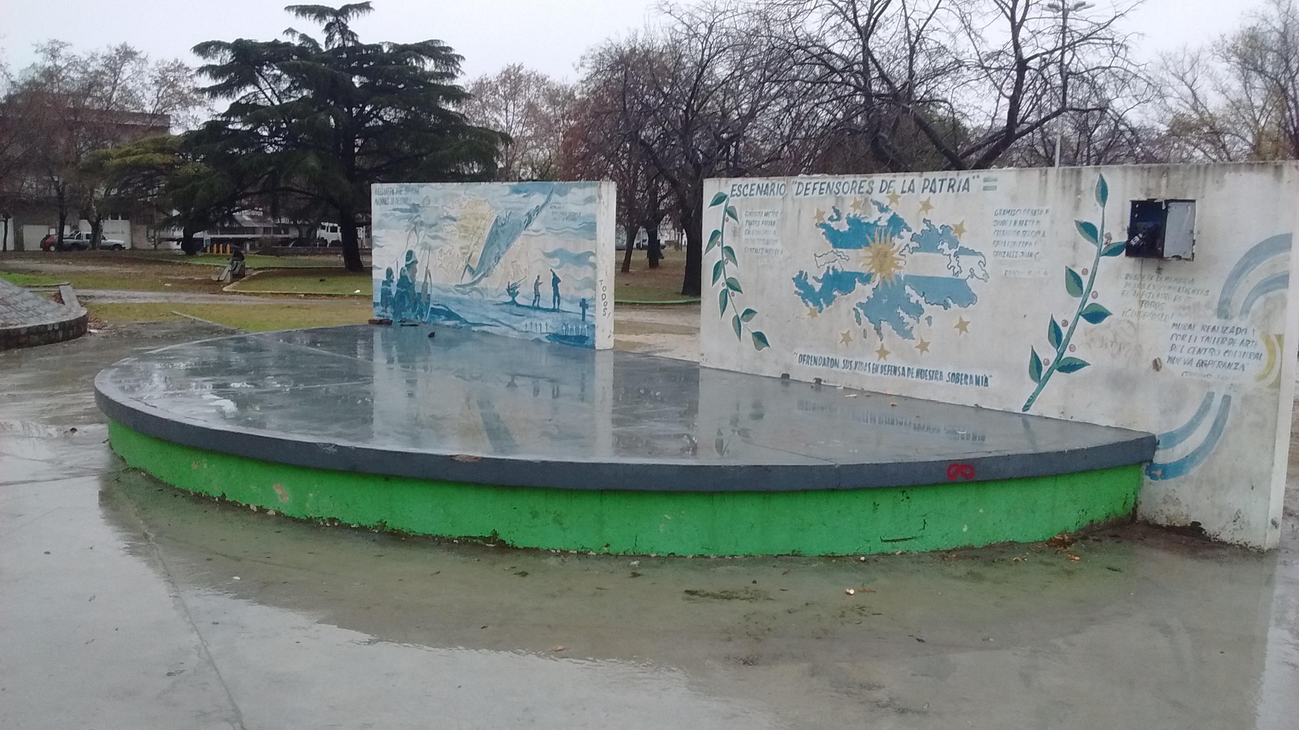 Anfiteatro de la plaza Gral San Martín 1 - Festival que realiza el Centro Cultural Nueva Esperanza