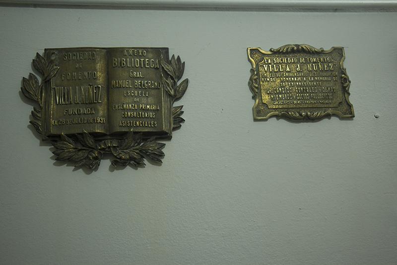 placas - Sociedad de Fomento Villa J. Nuñez