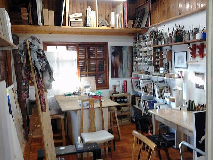 interior taller. 1er. piso - Atelier de Horacio Cabezuelo