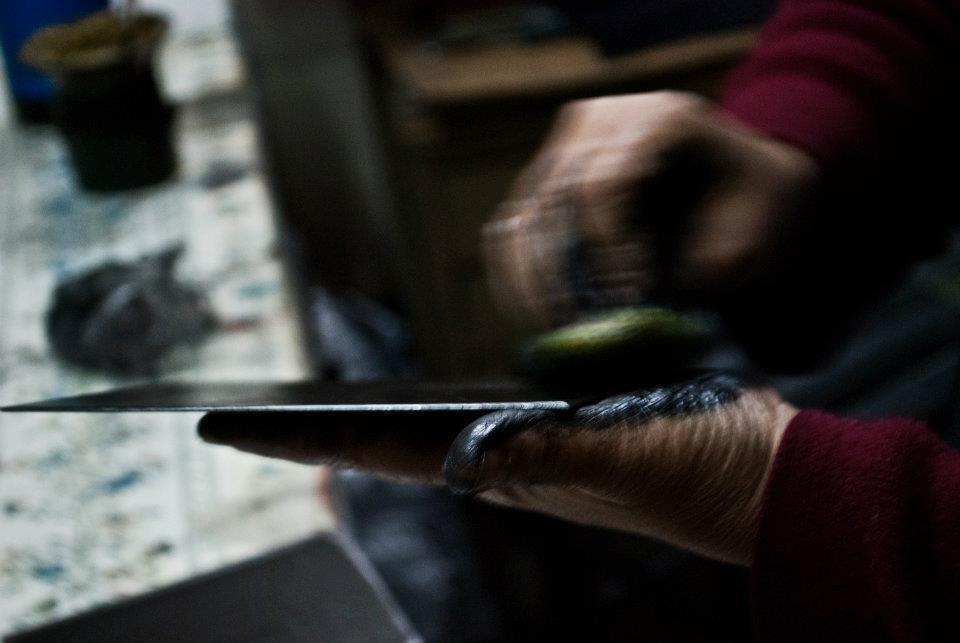 detalle. silvia rocca trabajando - Atelier de Silvia Rocca