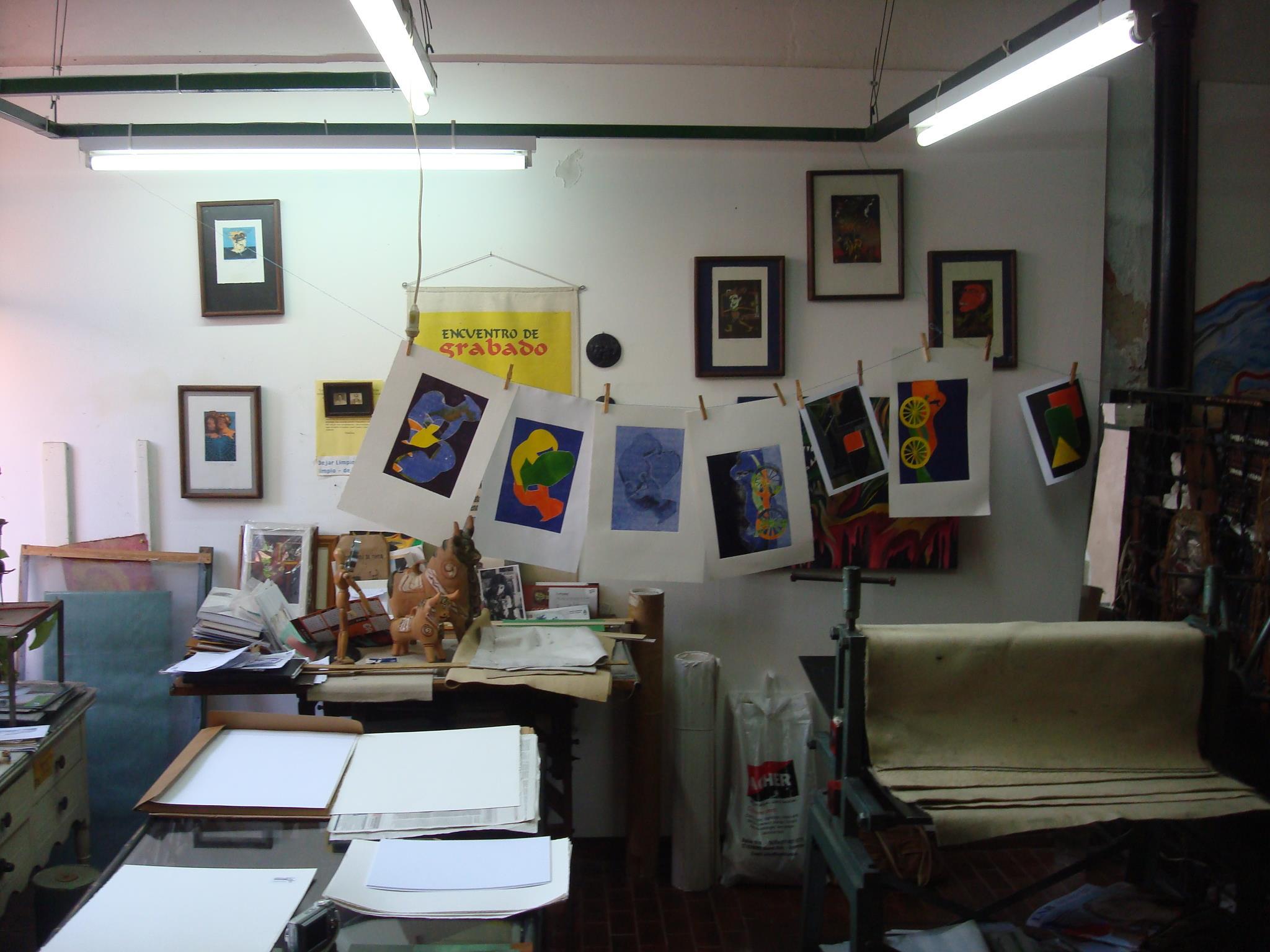 vista del taller. mirando al sur - Atelier de Silvia Rocca