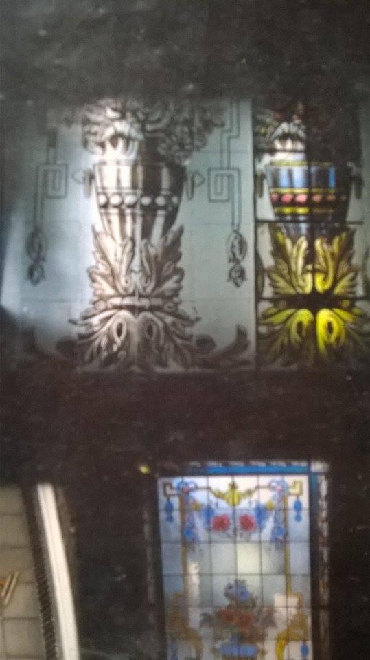 carpeta de trabajos de Claudio De Luca. proceso del diseño del vitraux - Claudio De Luca Vitraux
