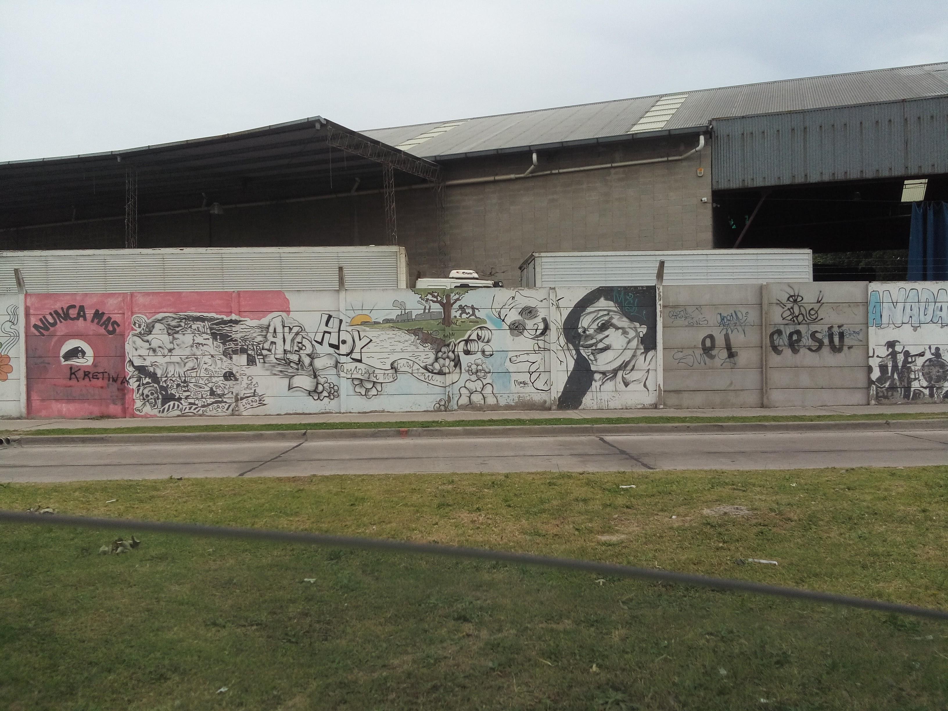 Imágen 1 - Mural en Camino de Sirga y Av. Velez Sarsfield
