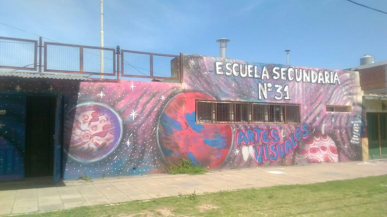 Escuela secundaria N° 31 bis - Mural en la Escuela N° 31 de Villa Corina