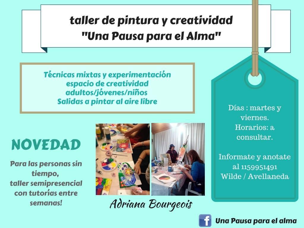 flyer de difusión - Atelier Una Pausa para el Alma