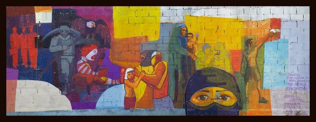 Mural Palestina - Mural Palestina, Latinoamérica Te Abraza