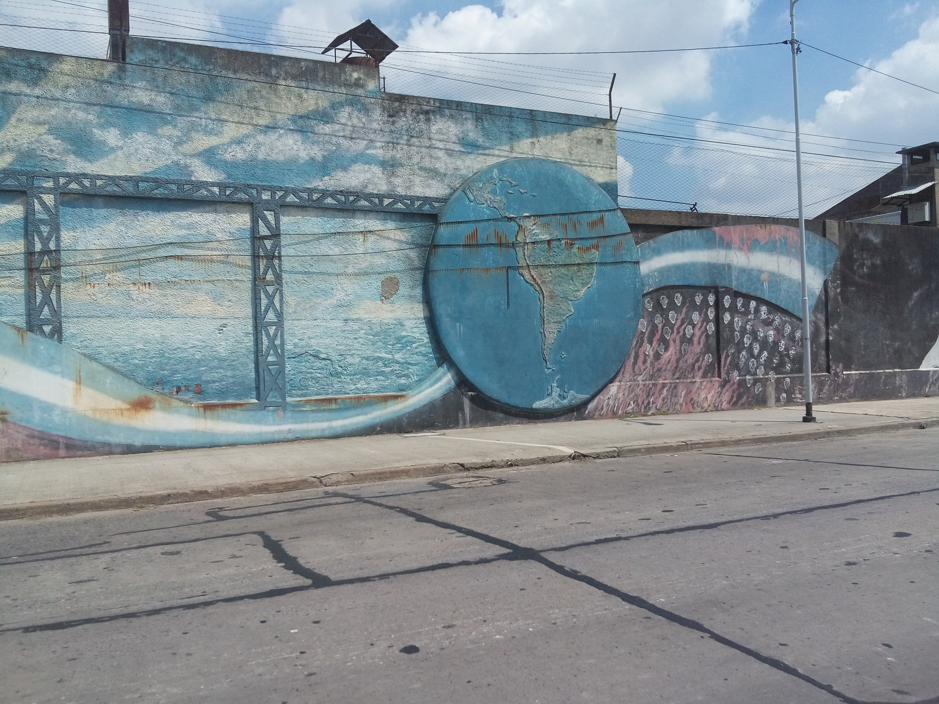 Mural fábrica Ferrum - Mural en la fábrica Ferrum
