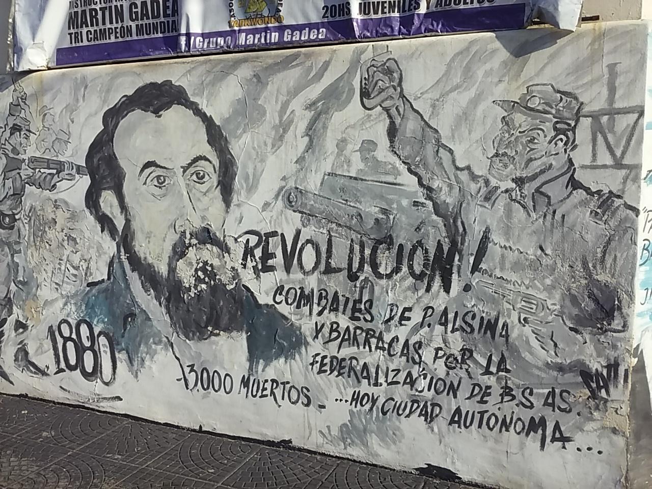 Mural - Mural en la Biblioteca Popular Presidente Avellaneda
