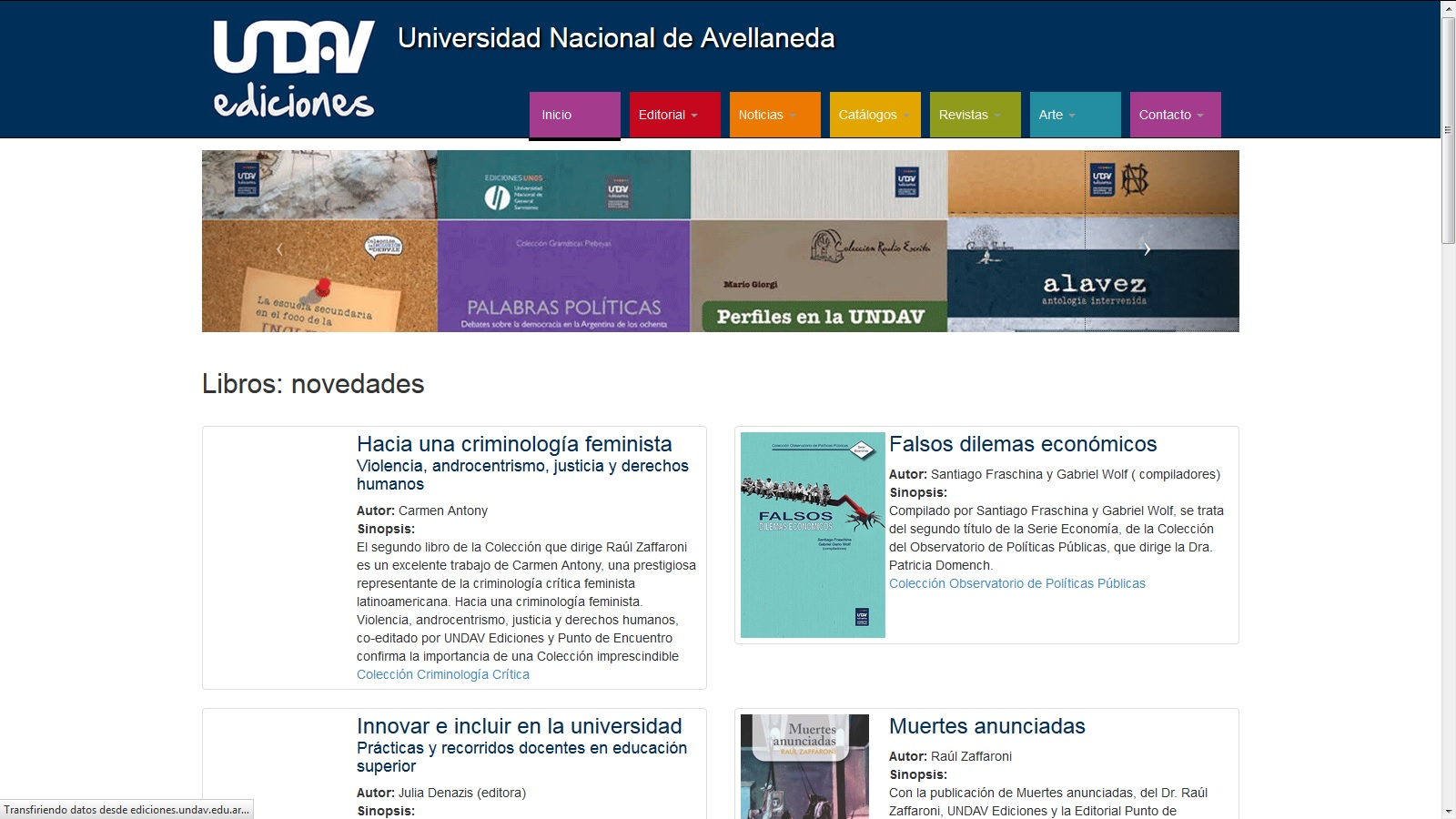 Editorial UNDAV - Editorial de la UNDAV