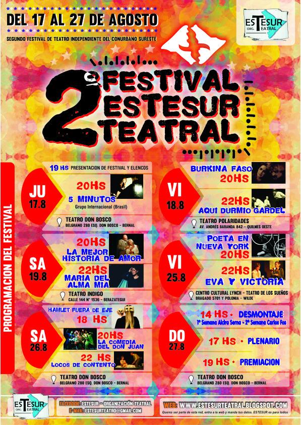 Afiche  - Festival Estesur Teatral