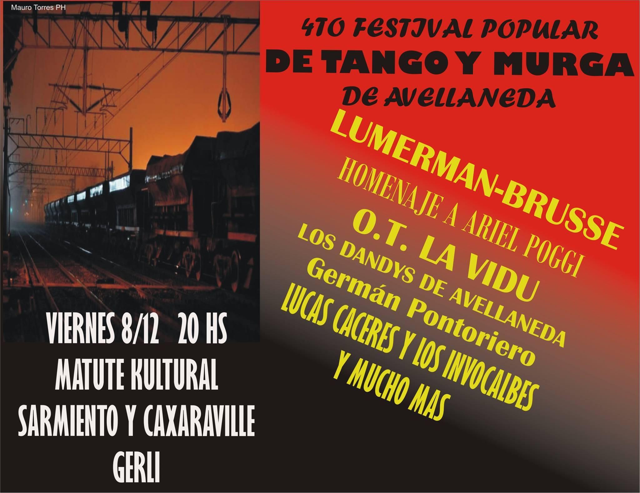 Cartel - 4to Festival popular de Tango y Murga de Avellaneda