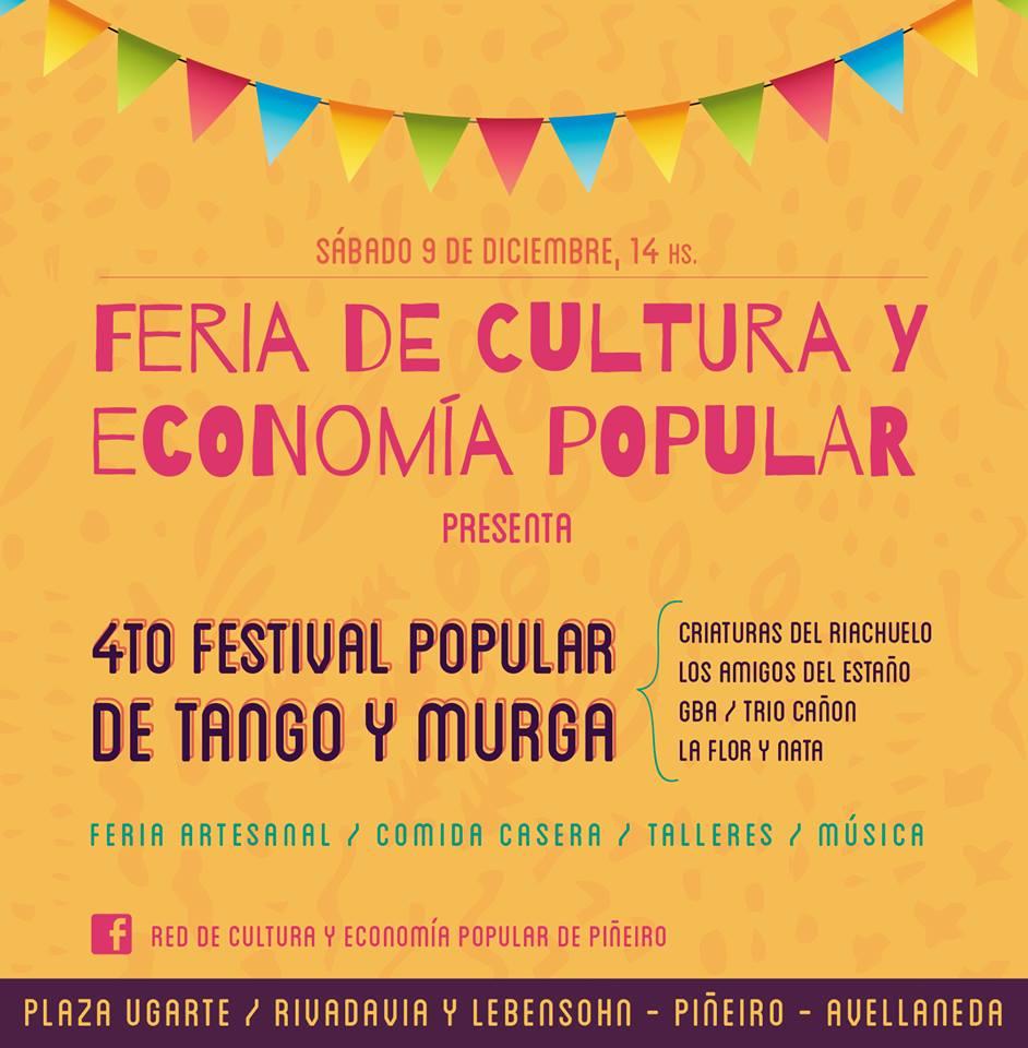 Feria de Cultura  - 4to Festival popular de Tango y Murga de Avellaneda