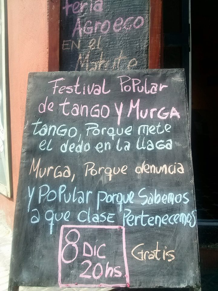 Cartelera clásica - 4to Festival popular de Tango y Murga de Avellaneda