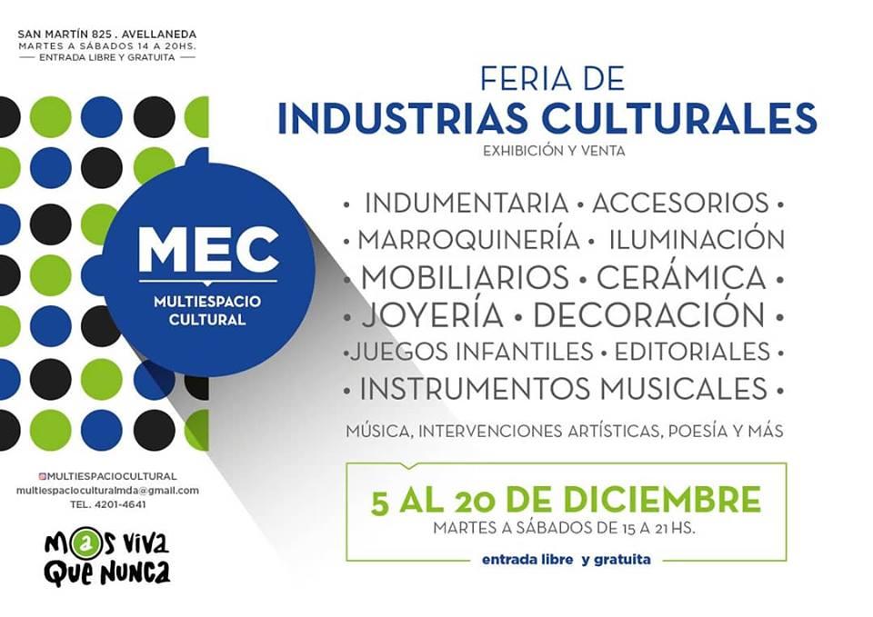 Flyer - Feria de Industrias Culturales en el MEC